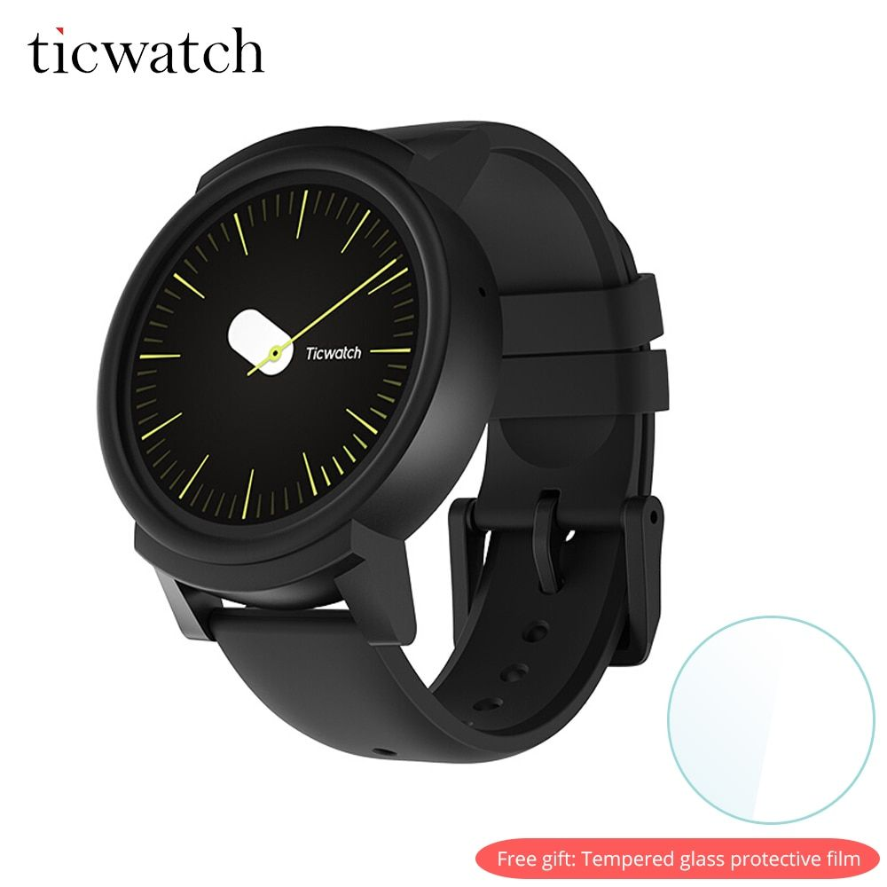 Original Ticwatch E Smart Watch Android Wear OS Dual Core WIFI GPS Smartwatch Phone IP67 Waterproof Free gift - Protective film