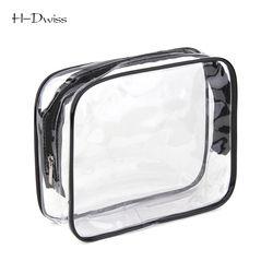 HDWISS Bateau Libre Protection de L'environnement PVC Transparent Cosmétique Sac Femmes Voyage Make up Toilette Sacs Maquillage Organisateur Cas