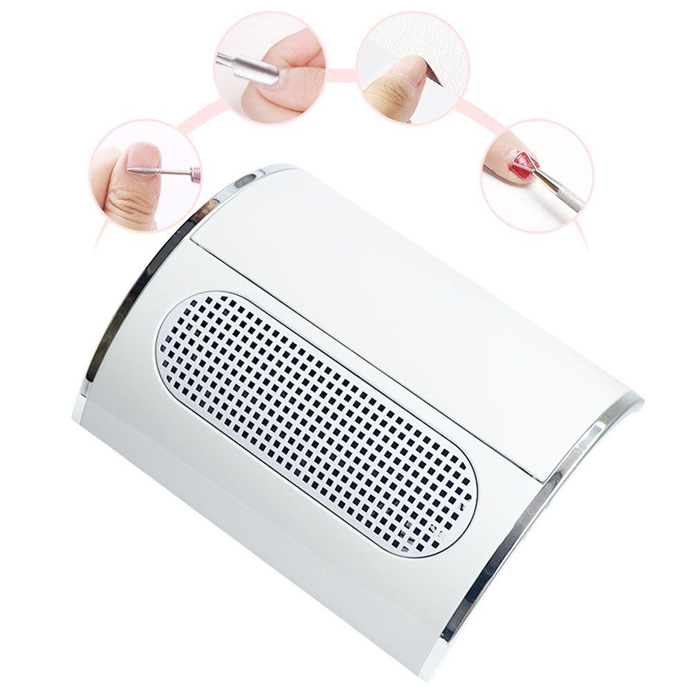 Puissant collecteur d'aspiration de poussière d'ongle avec 3 outils de manucure d'aspirateur de ventilateur avec 2 sacs de collecte de poussière