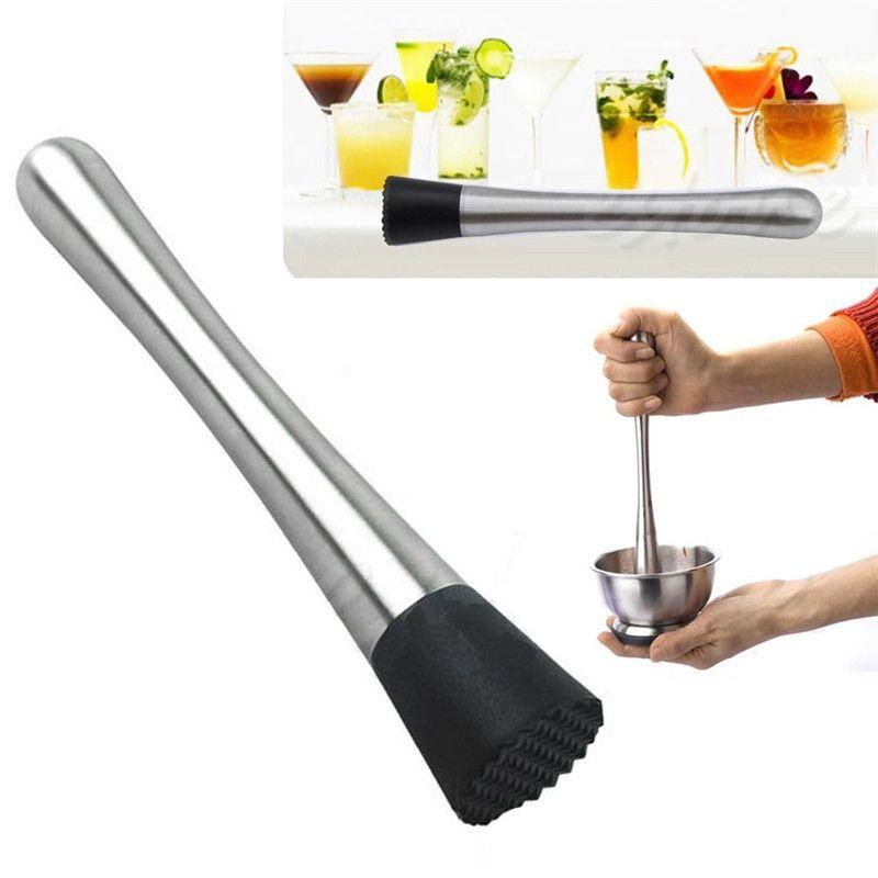 Edelstahl Cocktail Muddler Bar Mixer Barware Mojito Cocktail DIY Trinken Obst Muddler Eis Barware Trinken Bar Werkzeug