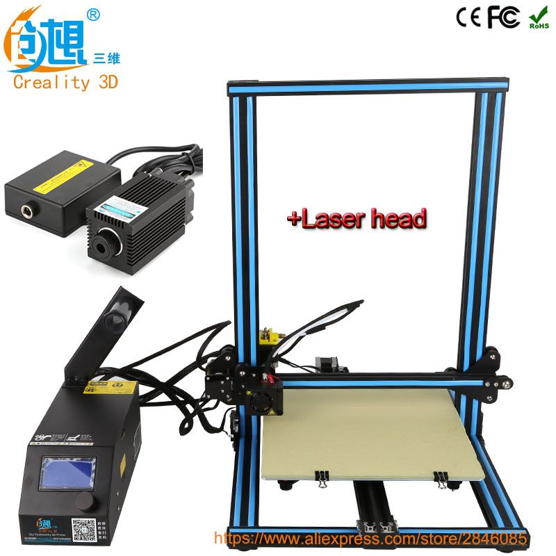 Creality 3d Laser Head Module Desktop 3D Printer CR-10 High precision 3D Printer Machine DIY Kit with Filament heated bed Gift