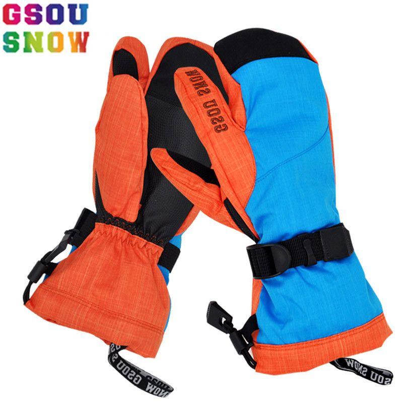 Marke GSOU SCHNEE Ski Handschuhe Frauen Snowboard Handschuhe Winter Wasserdichte Ski Snowboard Schnee Weibliche Ski Handschuhe Windstopper