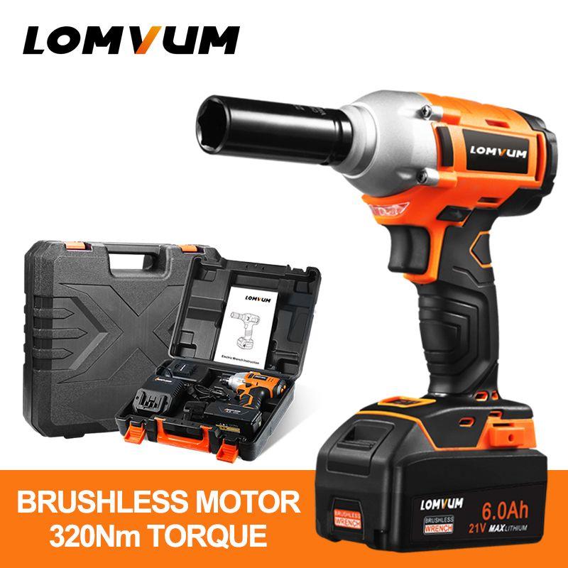 LOMVUM brushless wrench wheel hilti tool cordless Electrical Impact wrench nut spanners screw gun avvitatore ad impulsi