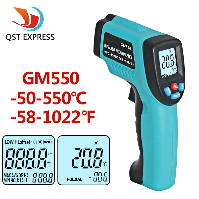 GM550 -50~550 C Digital infrared Thermometer Pyrometer <font><b>Aquarium</b></font> laser Thermometer Outdoor thermometer