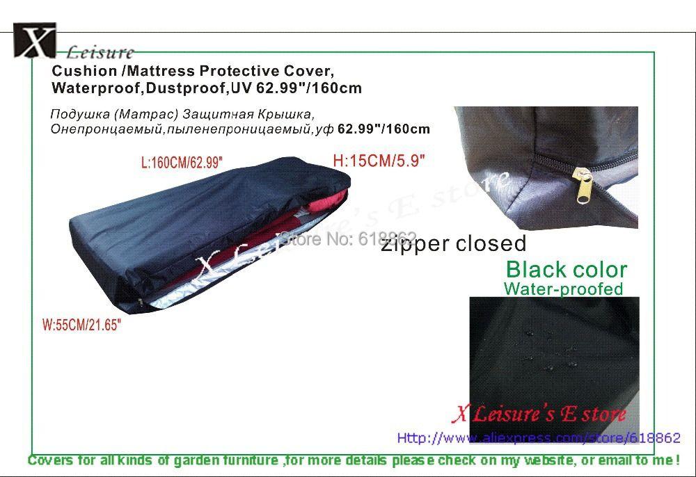 Бесплатная доставка пыле, водонепроницаемый нейлон чехол для мебель подушке/матрас, матрас защитная крышка 160x55x15 см