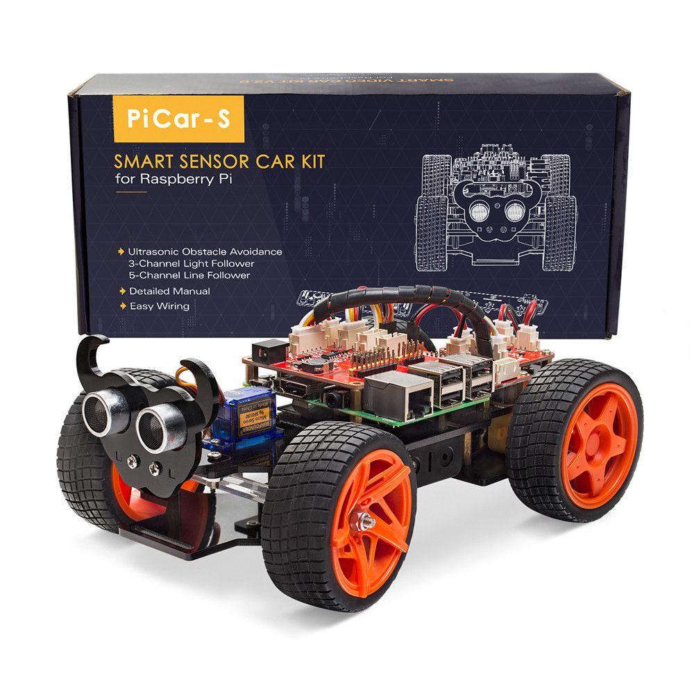 SunFounder Raspberry Pi Smart Roboter Auto Kit PiCar-S Block Basierend Grafische Visuelle Programmierbare Elektronische Spielzeug mit Detail Manuelle