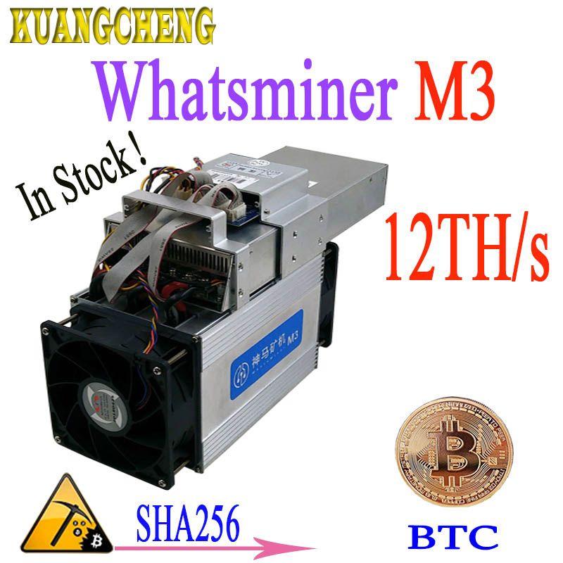 BTC BCH Miner WhatsMiner M3X 12TH/s Asic SHA256 Bitcoin Miner Mit NETZTEIL Wirtschafts Als Antminer S9 Z9 DR3 a9 M10