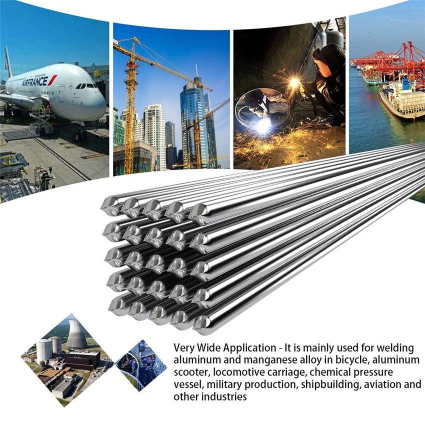 Magnésie fil fourré en Aluminium basse température électrode de soudage en Aluminium noyau de Flux électrode en Aluminium 500x2.0mm