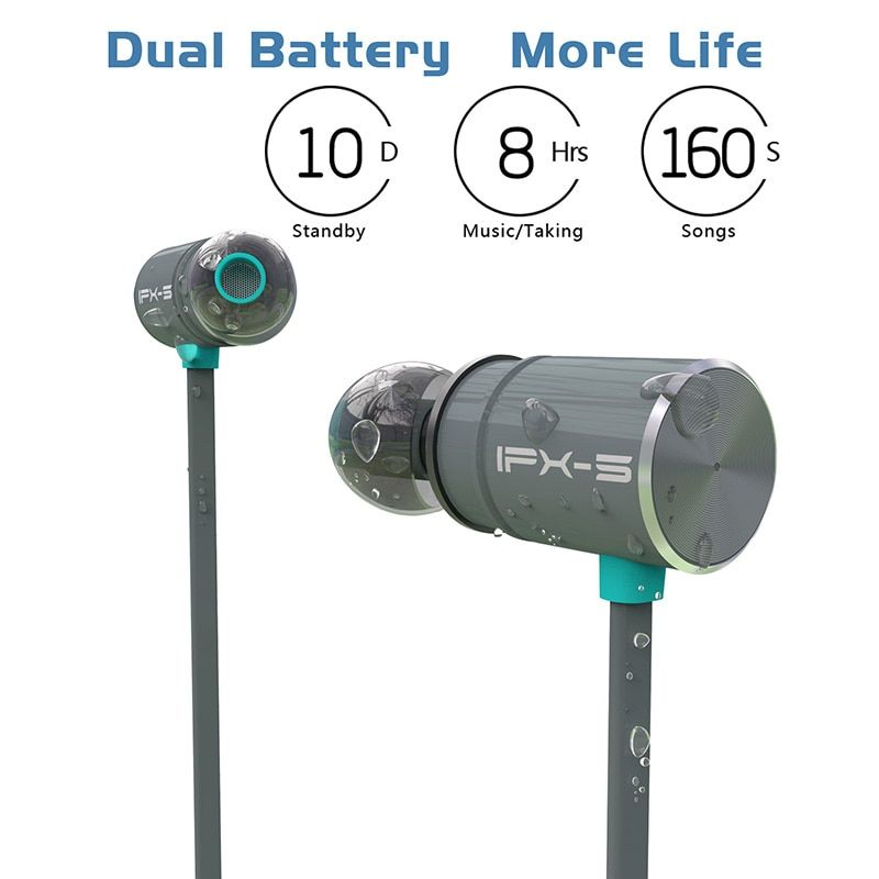 Original Plextone BX343 Wireless Bluetooth Earphone IPX5 waterproof Portable HIFI bass stereo High-end Sport with mic Headset