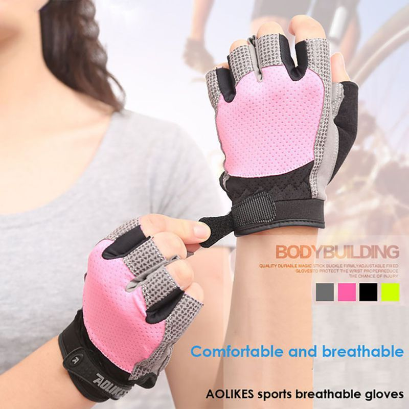 New Men And Women Custom Fitness Exercise Training Gym Gloves Body Building Training Sports Fitness Weight Lifting Gloves