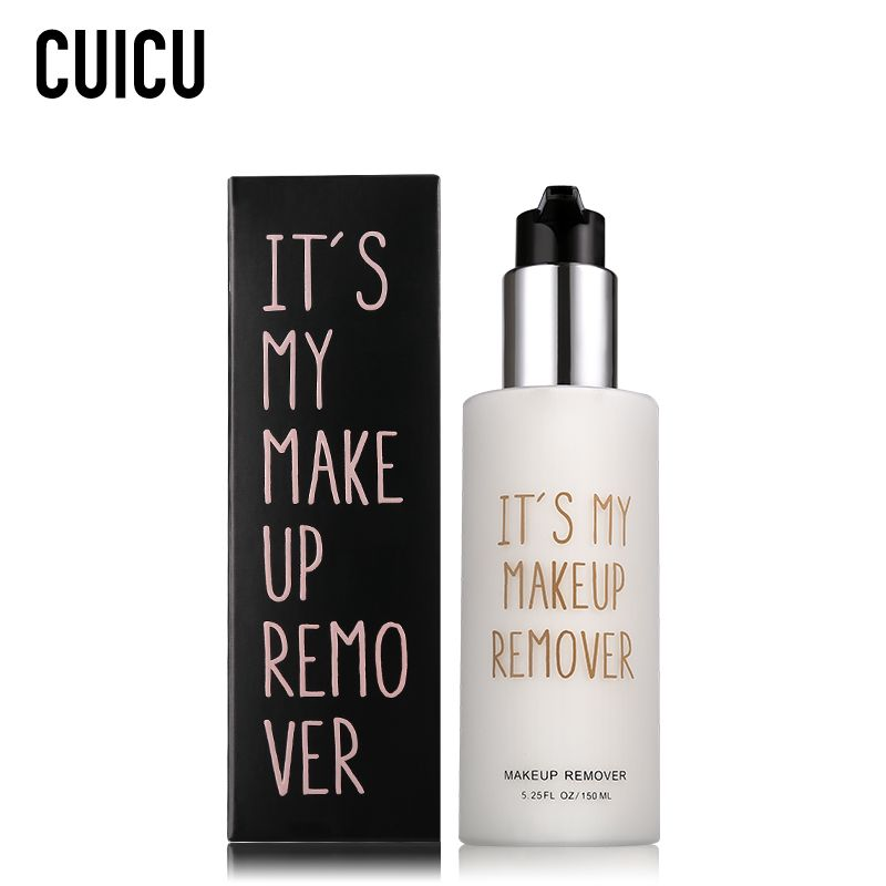 CUICU Brand Deep Cleansing Essence Makeup Remover Quick Dissolve Skin Care For Eye Lip Makeup Mild Soft For Face Make Up Remove