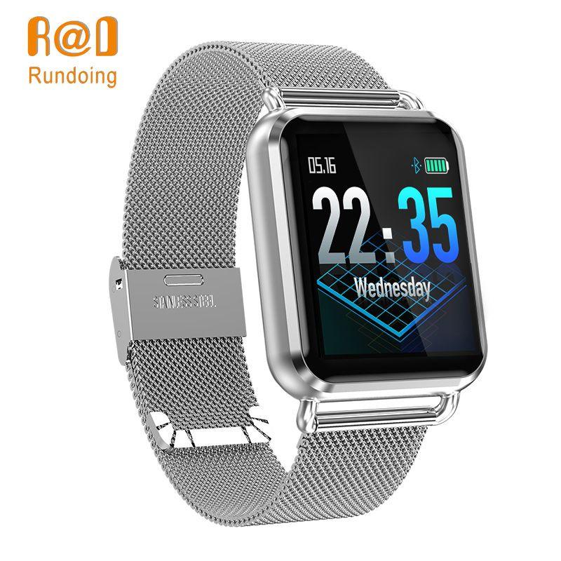 Rundoing Q3 Smart watch Men waterproof Dynamic Blood Oxygen Pressure Pedometer fitness tracker Heart Rate smartwatch