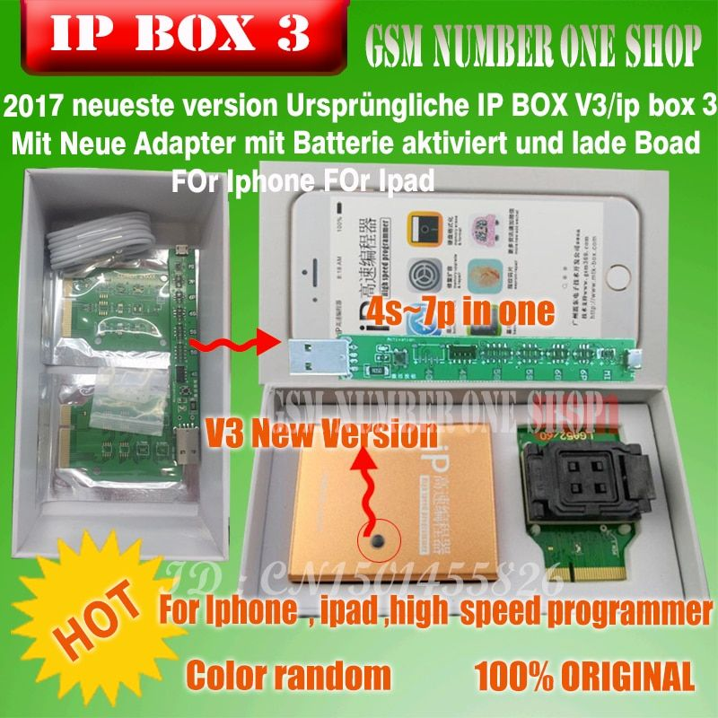 Ipbox  IP BOX3  high speed programmer for telefon pad harte disk programmers4s 5 5c 5 s 6 6 plus speicher upgrade for V6.1