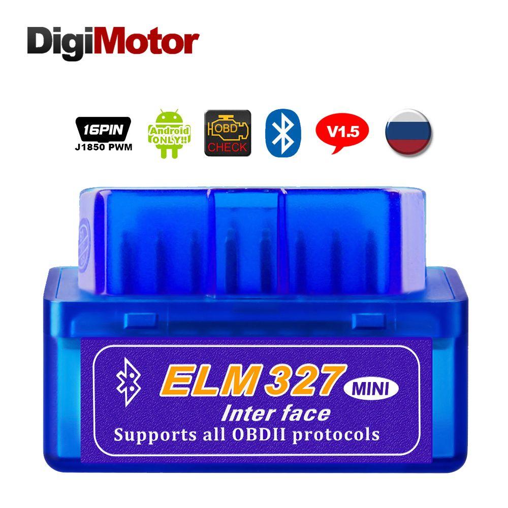 Réel ELM327 V1.5 Bluetooth OBD2 Scanner Android voiture outil de Diagnostic automobile OBDII Scaner mieux V2.1