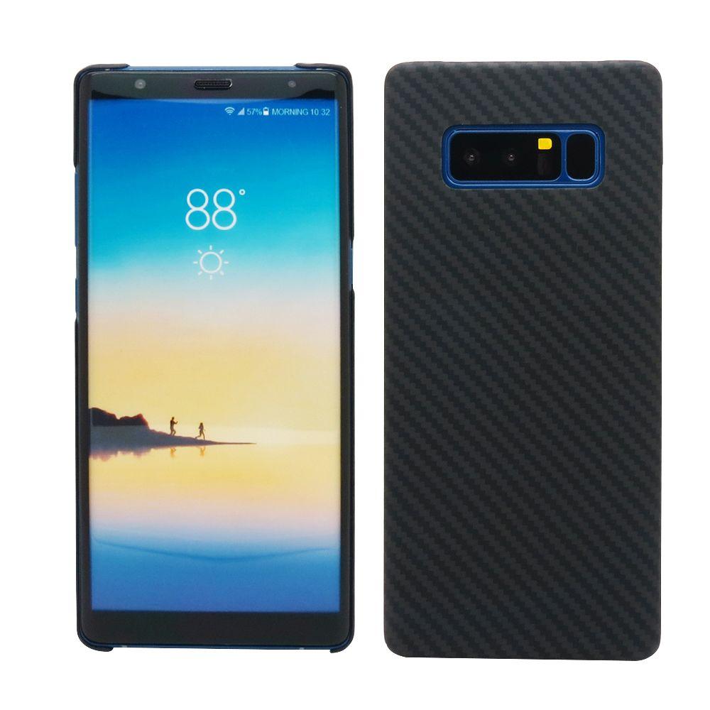 100% Real Carbon Fiber-Fall Für Samsung Galaxy Note 8 Ultra dünne Deluxe Kevlar Aramid Kohlefaser Abdeckung Für Galaxy Note 8 Neue ankunft