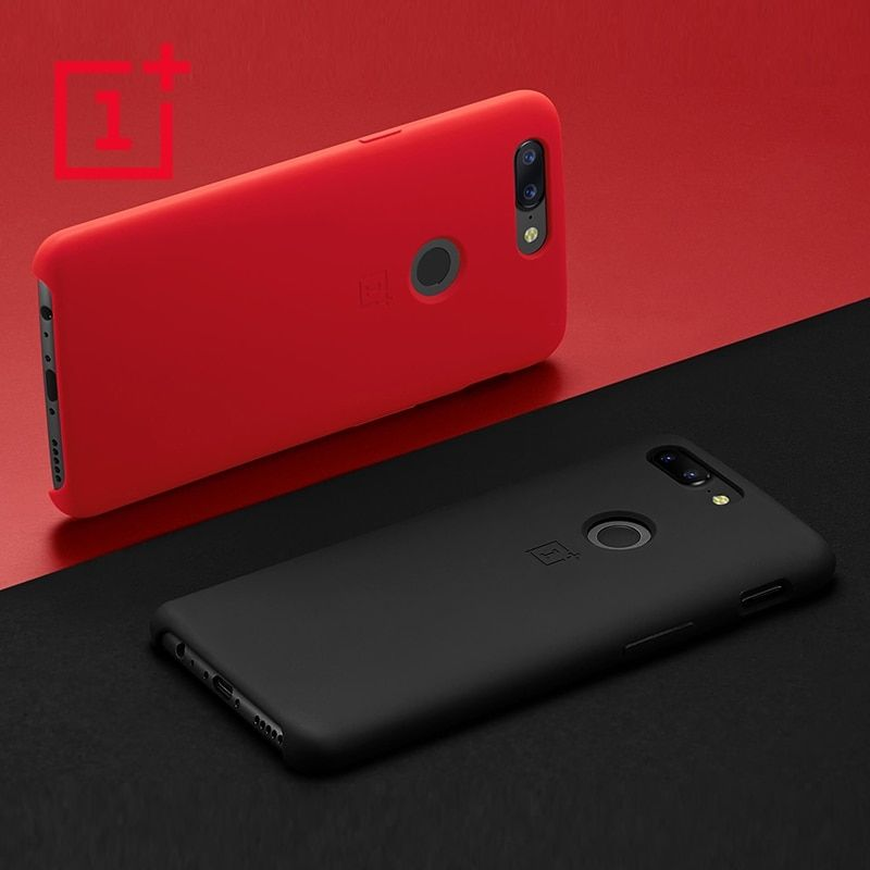 OnePlus 5T Silicone official Case Protective Cover 100% Original Product Slim Silicone Protective Case Back Cover For One Plus5T