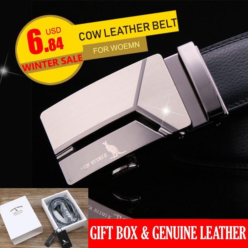 Men's Genuine Leather Belt High Quality New Designer Belts Men Luxury Strap Male Waistband Fashion Vintage Buckle Belt for Jeans