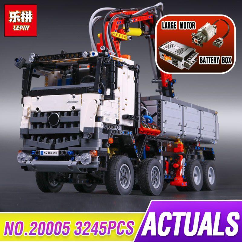 3245 шт. Лепин 20005 техника серии arocs модель строительные блоки Кирпич совместимые с забавные игрушки для детей с legoed 42043