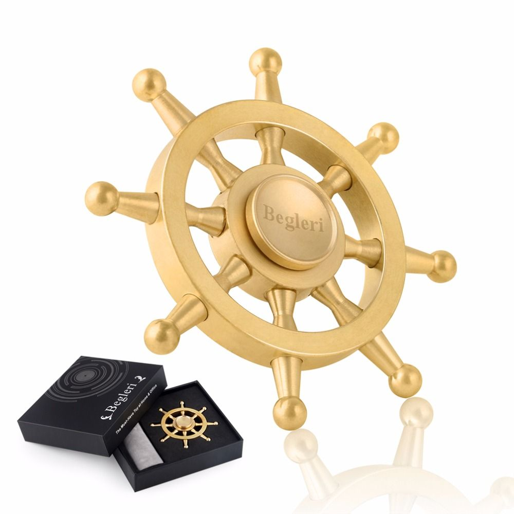 Portable Metal Fidget Spinner Cool Pirates of the Caribbean Rudder Steering Wheel Hand Spinner Relax Metal Fidget Spinner