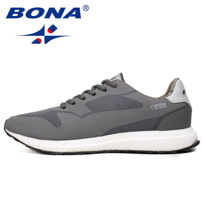 BONA Neue Wasserdichte Stil Männer Laufschuhe Outdoor Walking Jogging Turnschuhe Cosy Licht Weich Sportlich Schuhe Männer Freies Verschiffen