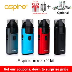 Big Sale!! Asli Aspire Breeze 2 AIO Kit Built-In 1000 MAh Baterai dengan 2 Ml/3 Ml Tank Atomizer Rokok Elektronik vape Kit