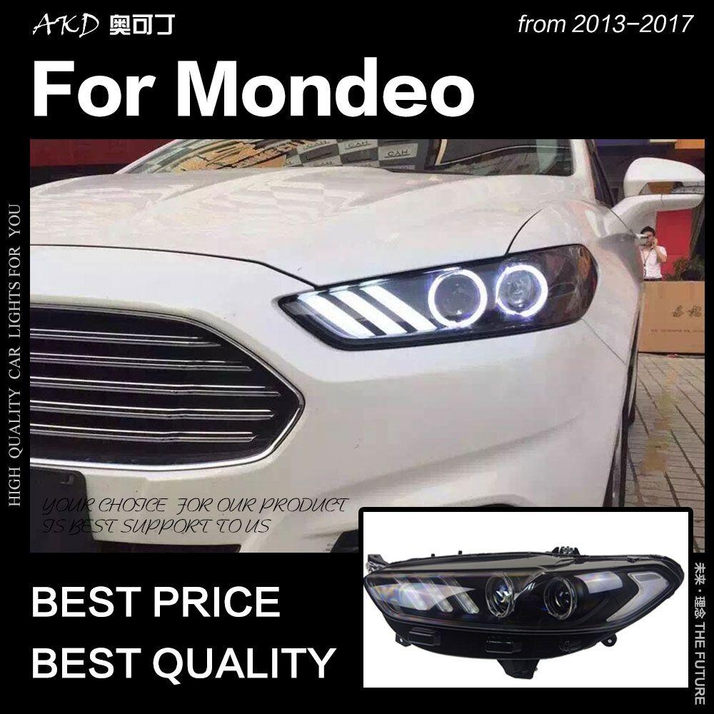 AKD Auto Styling für Ford Fusion Scheinwerfer 2013-2017 Mondeo DRL Mustang Design Hid Dynamische Signal Bi Xenon LED strahl Zubehör