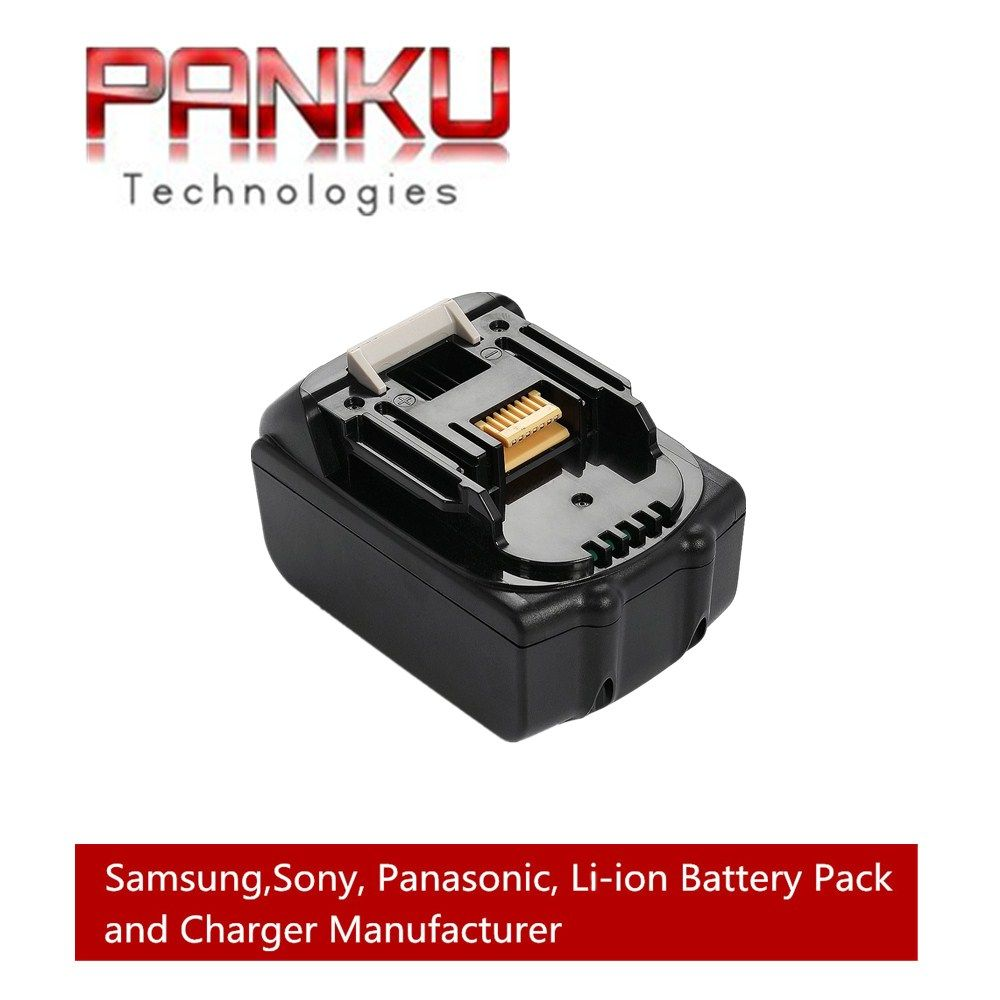 PANKU 18V 5000mAh Li-Ion Replacement Power Tool Battery for Makita BL1830, BL1845 194205-3, LXT400