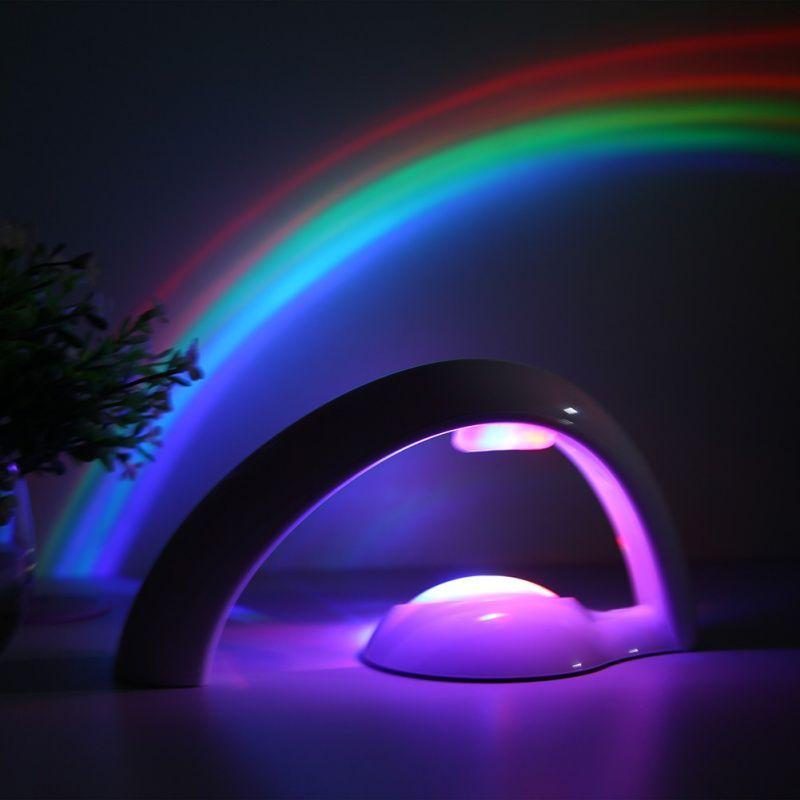 Nouveauté LED coloré arc-en-ciel nuit lumière romantique ciel arc-en-ciel projecteur lampe luminaria maison chambre lumière