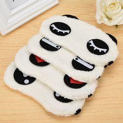 Новая симпатичная белая маска глаза панды тени для век сна хлопковые очки маска для сна повязка на глаза, маска для сна уход