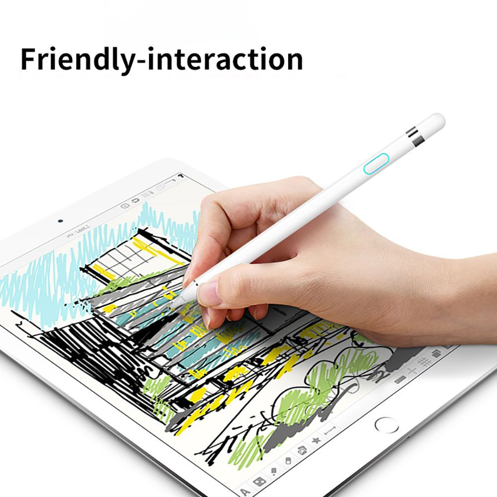 WIWU Touch Pencil for iPad 2018 Stylus Pen Compatible for Android & IOS Capacitive Screen Stylus Tablet Touch Pen for iPad Pro