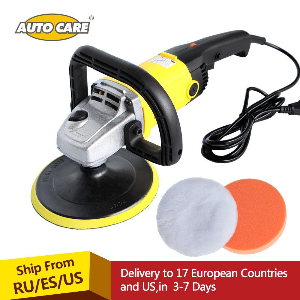 Auto Polierer 1200 watt Variable Geschwindigkeit 3000 rpm 180mm Autolack Pflege Werkzeug Polieren Maschine Sander 220 v M14 elektrische Boden Polierer
