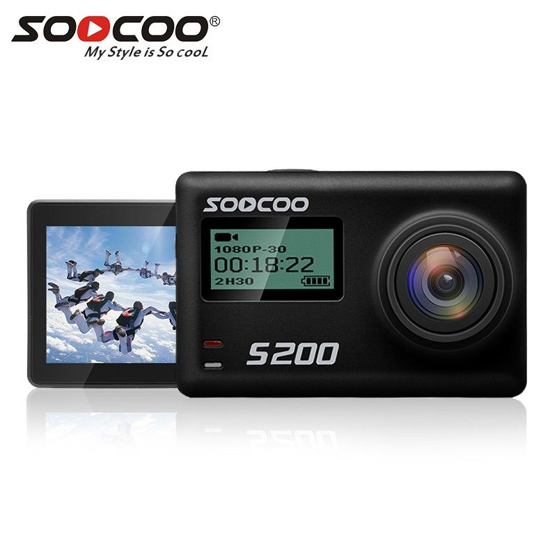 Original SOOCOO S200 Sports Action Camera Ultra HD 1080P 4K NTK96660 IMX078 with WiFi Gryo Voice Control Touch LCD Screen