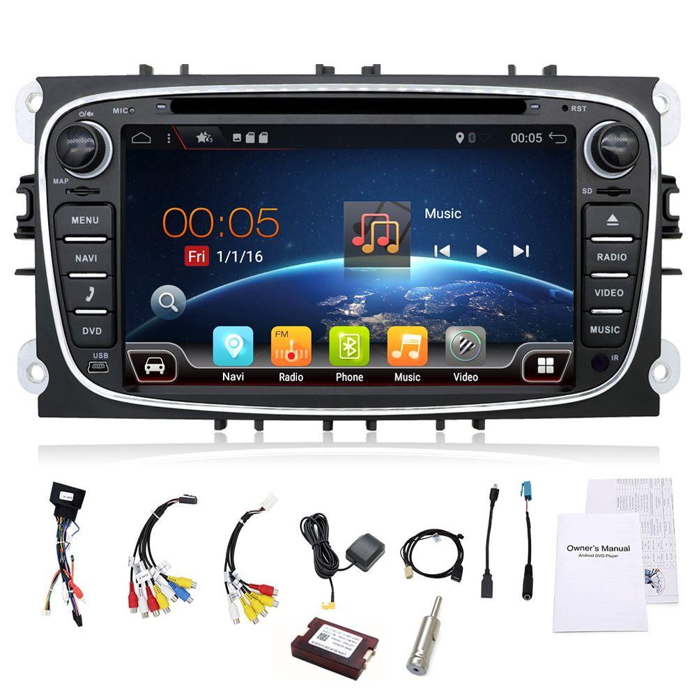 2 din Android 7.1 Quad Core Auto DVD Player GPS Navi für Ford Focus Mondeo Galaxy mit Audio Radio Stereo Kopf einheit Kostenloser Canbus