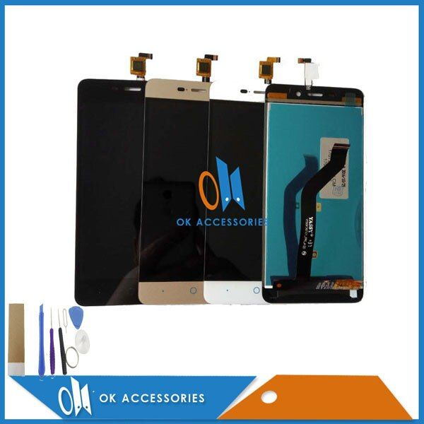 For ZTE Blade X3 D2 T620 A452 LCD Display+Touch Screen Digitizer Black White Gold Color With Tools & Adhesive Tape 1PC/Lot