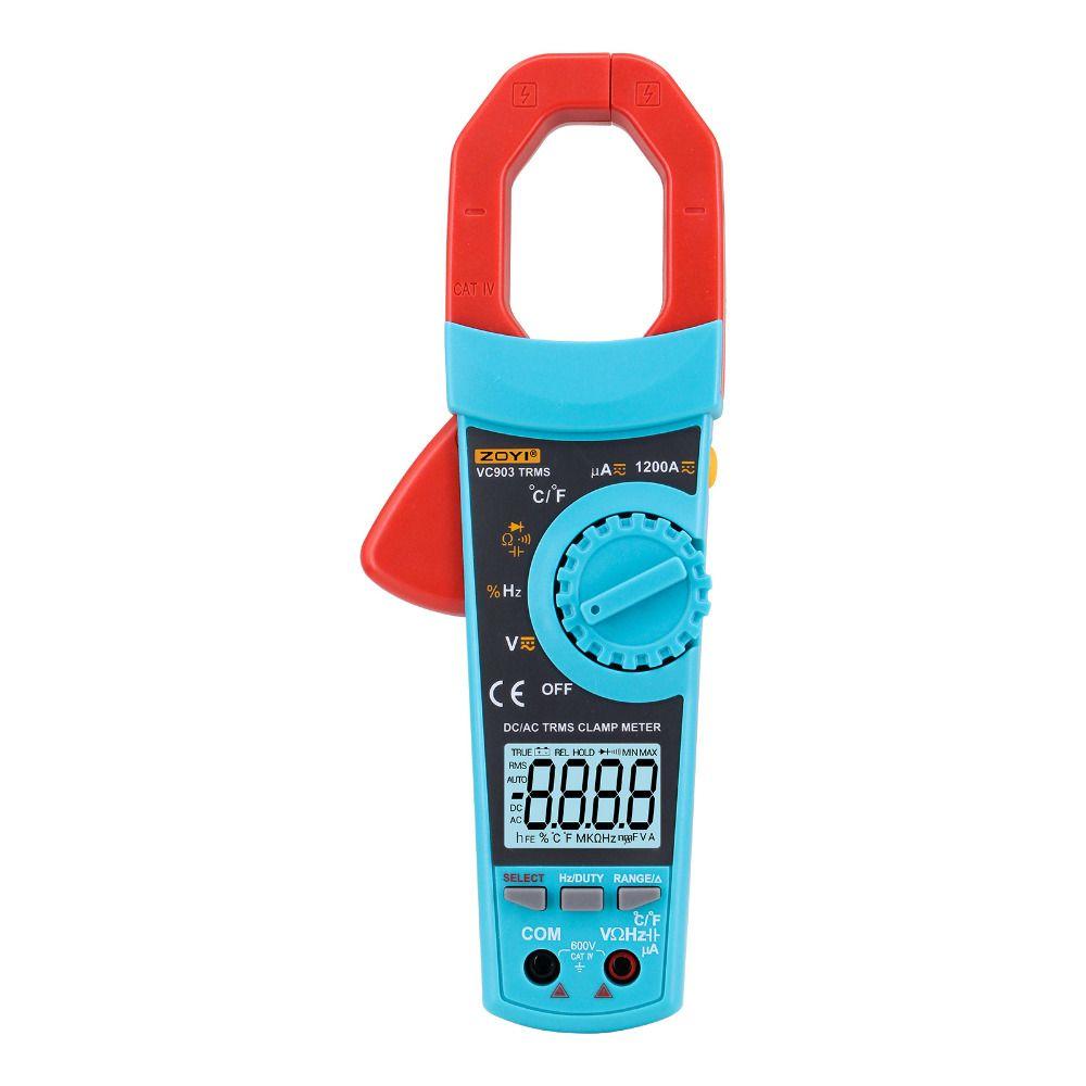 Digital Multimeter Clamp Meter <font><b>Thermometer</b></font> -20-1000 degree AC/DC Current Voltage Capacitor Resistance Tester Amper Voltmeter