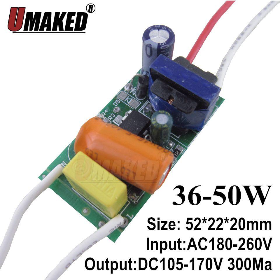 40 Вт 50 Вт светодио дный внутри светодио дный драйвер AC170-265V светодио дный трансформатор постоянного тока для 50 Вт indoor светодио дный лампы осв...