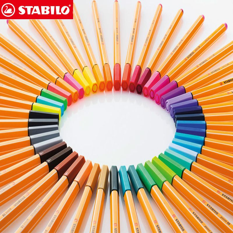 25 pièces STABILO Point 88 Fineliner fibre stylo Art marqueur 0.4mm feutre pointe esquisse Anime artiste Illustration technique dessin stylos