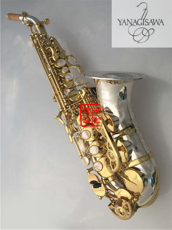 curved soprano Saxophones sc-9937 Bb Nickel silver brass sax Professional mouthpiece Patches pads Reeds bending Neck skin cares