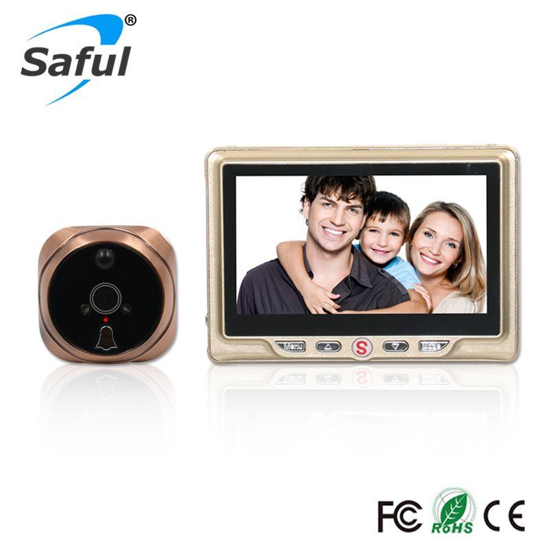 LCD Recordable Digital Peephole Door Viewer with Door Eye Doorbell Video Camera Free shipping