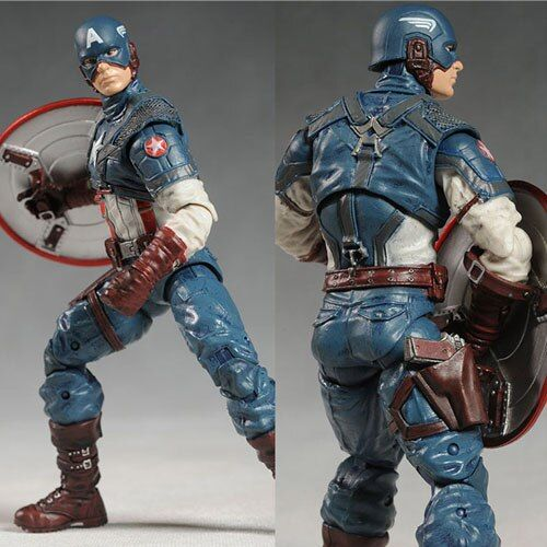 Marvel Super Hero Series the Avengers Captain America 20cm Action Figure PVC Model Collectible Toy