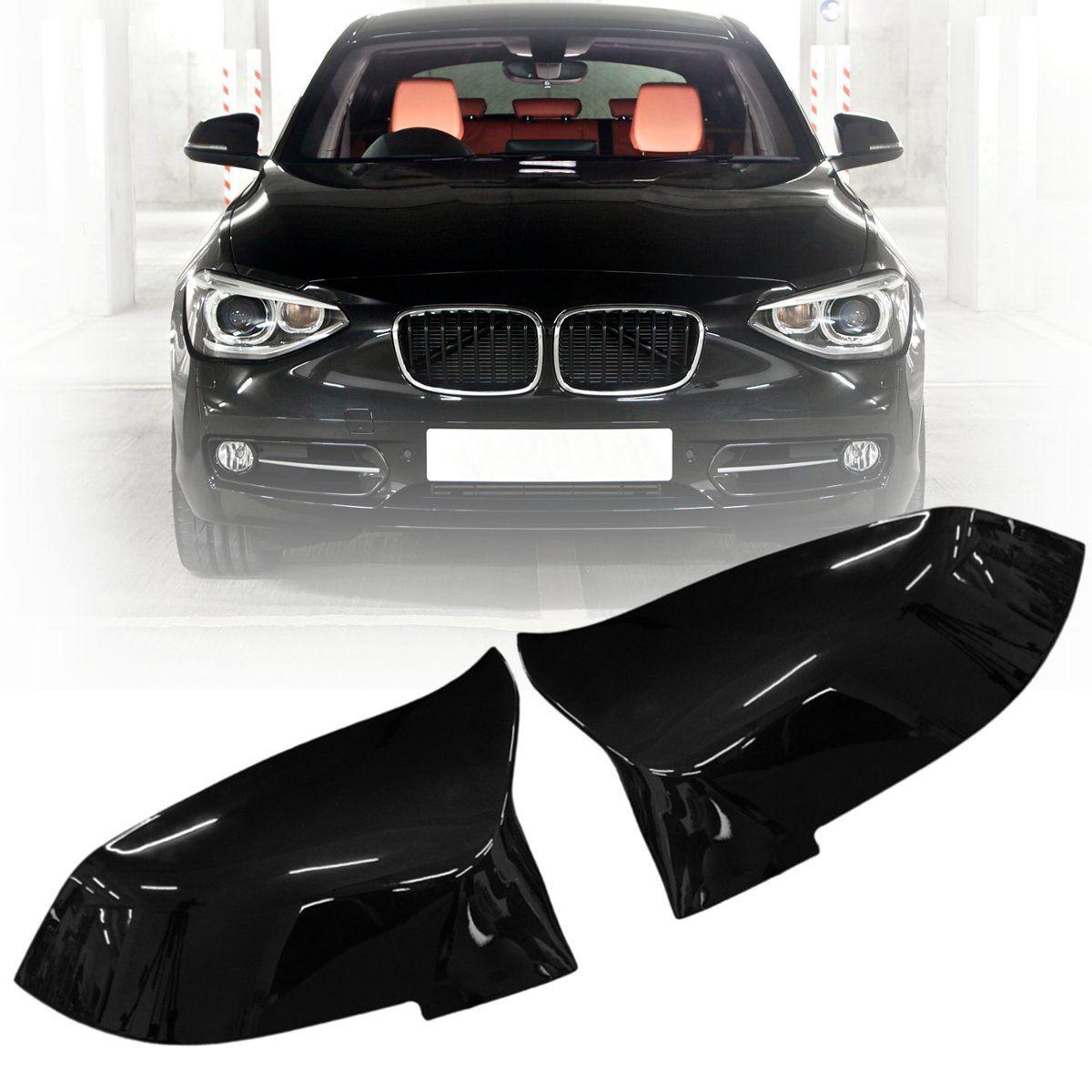 Pair Gloss Black Rearview Mirror Cover For BMW F20 F21 F22 F30 F32 F36 X1 F87 M3 2012 2013 2014 2015 2016 2017