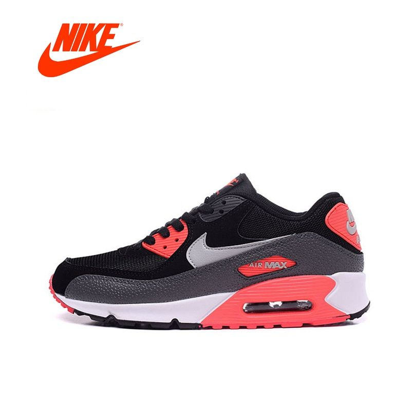 Original New Arrival Authentic Nike Women WMNS AIR MAX 90 ESSENTIAL Breathable Running Shoes Sport Outdoor Sneakers 537384-006