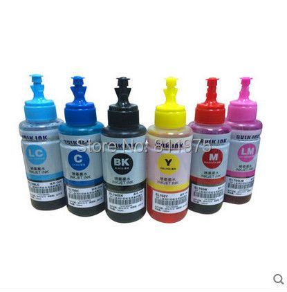 Dye ink Based Non OEM 6 color Refill Ink <font><b>Kit</b></font> 70ml for Epson L800 L801 printing ink Cartridge No. T6731/2/3/4/5/6