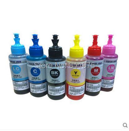 Kit d'encre de recharge Non OEM 6 couleurs à base d'encre de colorant 70 ml pour cartouche d'encre d'impression Epson L800 L801 n° T6731/2/3/4/5/6