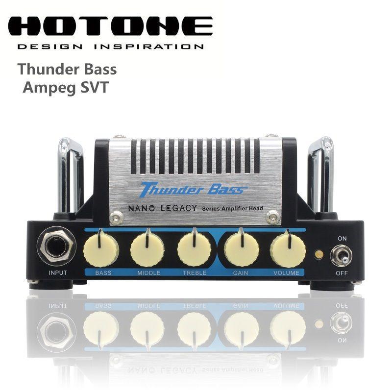 Hotone Nano Legacy Thunder Bass 5-Watt Mini Bass Guitar Amplifier Head Based on Ampeg SVT