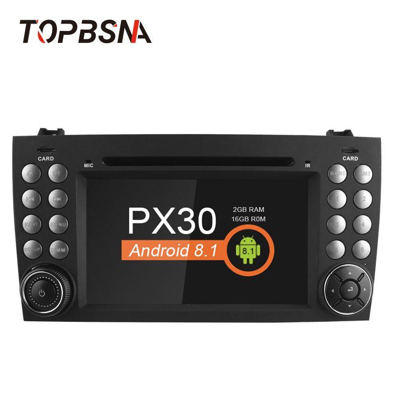 TOPBSNA 2 Din Android 8.1 Car Multimedia For Mercedes Benz SLK Class R171 W171 2008-2011 SLK200 SLK230 SLK280 GPS headunit audio
