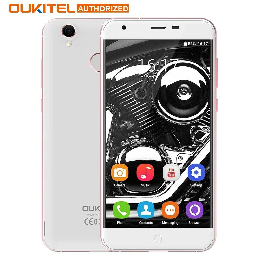 Original Oukitel K7000 MTK6737 Quad Core Android 6.0 Mobile Phone 5.0 Inch Cell Phone 2G RAM 16G ROM 4G Unlock Smartphone