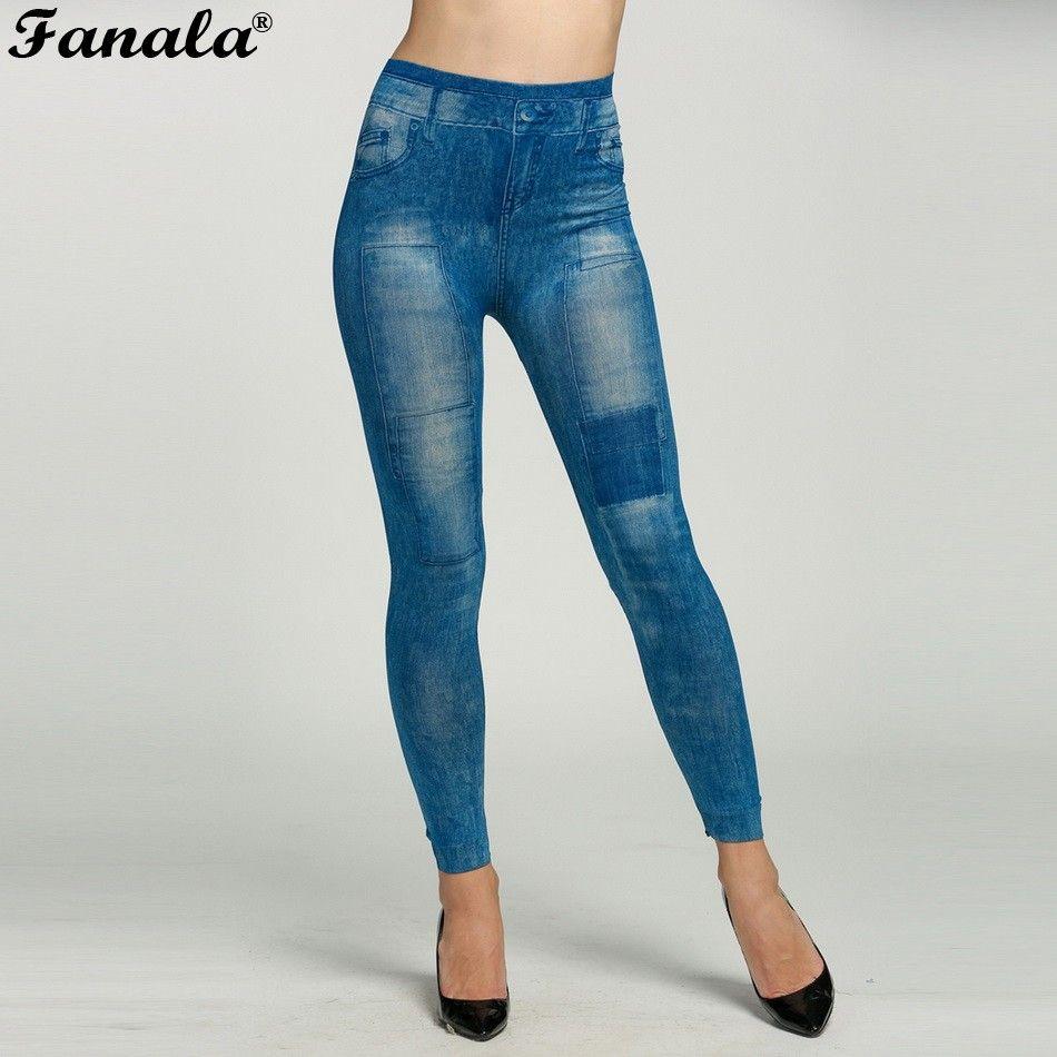 Mujeres Leggings Jeans Jeggings 2016 Causal Plus Size Jeggings Leggins Negro femal Pantalones Caliente Pantalones Pantalones Lápiz Venta Caliente