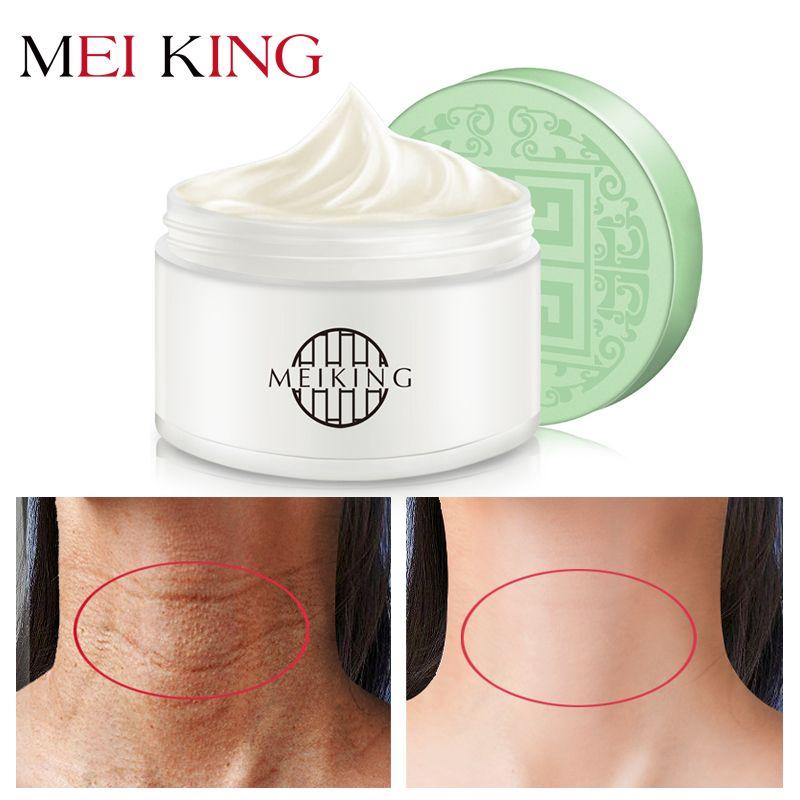 MEIKING acide hyaluronique Anti rides crème pour le cou hydratant supprimer les ridules cou masque blanchissant raffermissant cou masques soin 80g