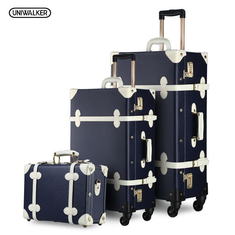 3PCS/SET Vintage PU Travel Luggage,12